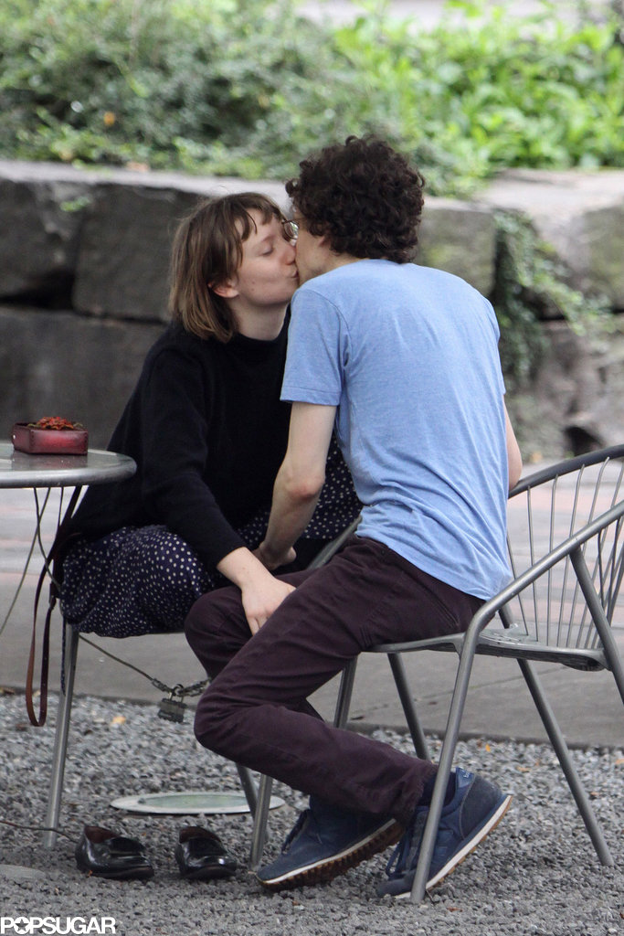 Jesse Eisenberg and Mia Wasikowska kissed in Toronto.