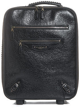 Balenciaga Stud detail leather suitcase