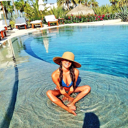 Lea Michele shared this cute bikini photo from her recent vacation in Mexico. Source: Instagram user msleamichele