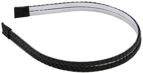 Karina Black 2 Row Braid Headband