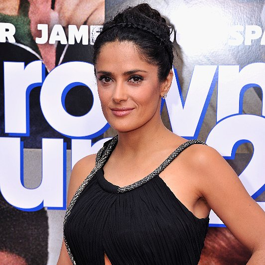 Salmaya Hayek Hair Look at Premiere of Grown Ups 2