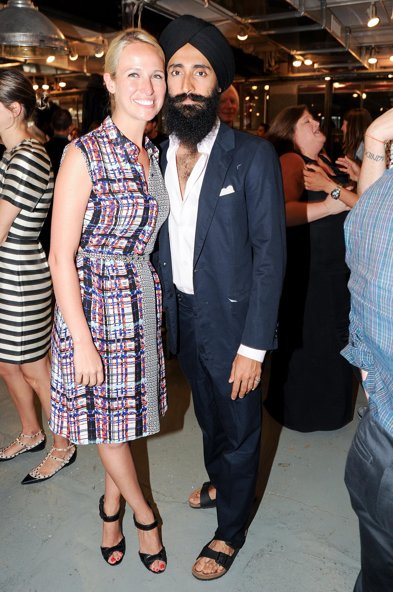 Misha Nonoo was a vibrant addition to Waris Ahluwalia's pared-down designs at the CFDA/Vogue Fashion Fund fete for this year's finalis