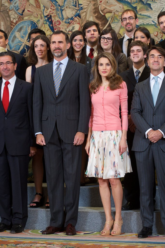 Princess Letizia of Spain looked regal yet casual at a royal appearance in Madrid.
