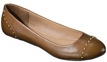 Women's Merona® Madeline Studded Ballet Flat - Tan