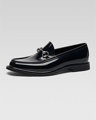 Gucci Rubber Moccasin with Horsebit