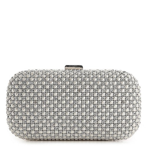 Lulu Townsend Pearl Front Minaudiere Clutch