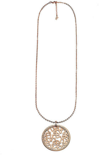 FOLLI FOLLIE Rose Gold Pendant with Crystals