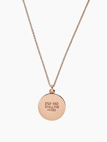 A rose is a rose is a rose idiom pendant