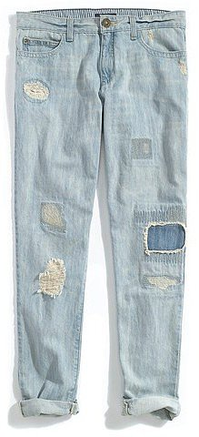 Tommy Hilfiger Women's Patchwork Boyfriend Denim