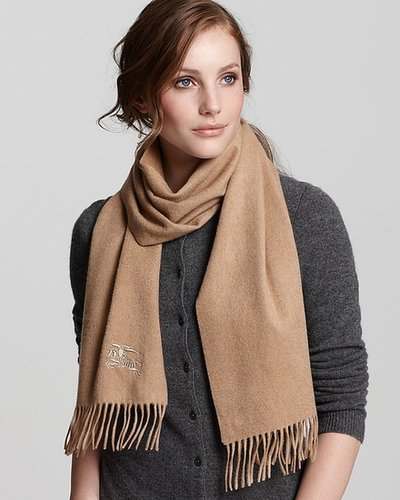 Burberry Cashmere Scarf with Horse Embroidery