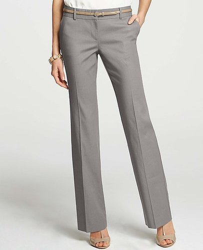 Tall Modern Pinstripe Stretch Cotton Trousers