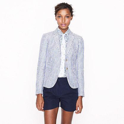 Schoolboy blazer in stripe linen