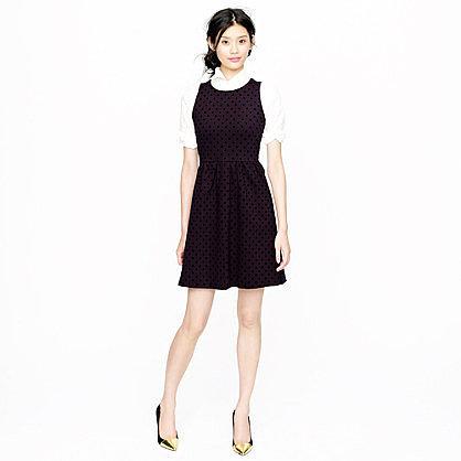 Polka-dot ponte dress