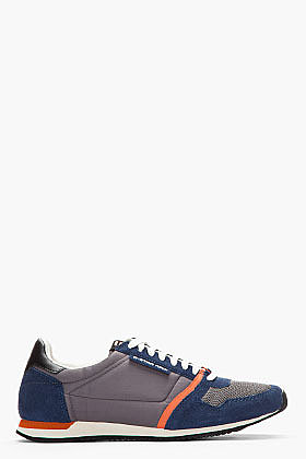 G-STAR Navy Suede-Trimmed Futura Sneakers