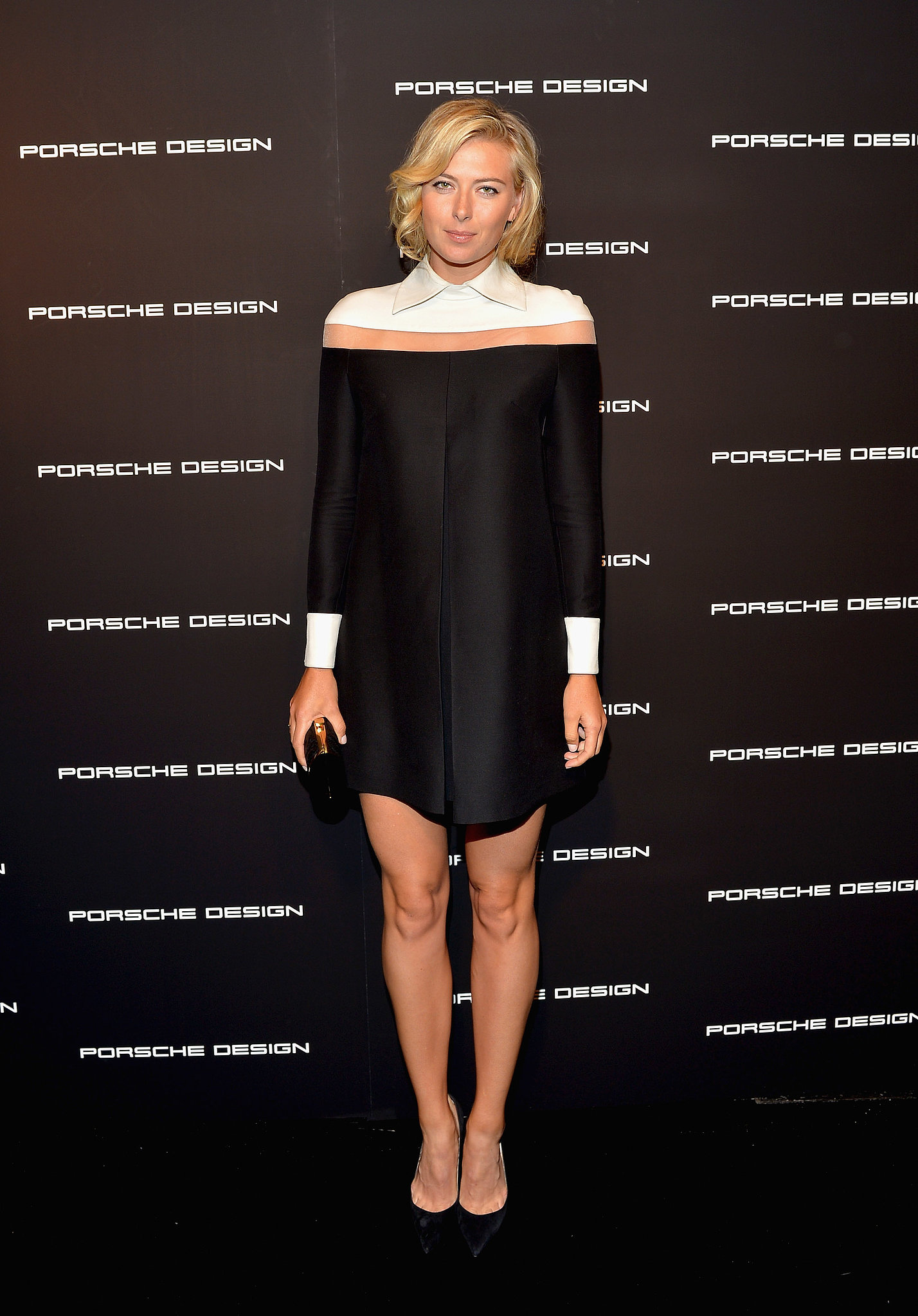 Looking leggy as ever, Maria Sharapova helped Porsche Design and Vogue reopen the car brand's Beverly Hills boutique in a colorbloc