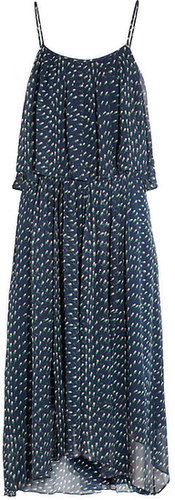 Band of Outsiders Floral-print silk-georgette dress