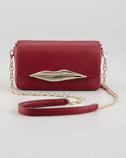 Diane von Furstenberg Flirty Leather Mini Crossbody Bag, Cherry