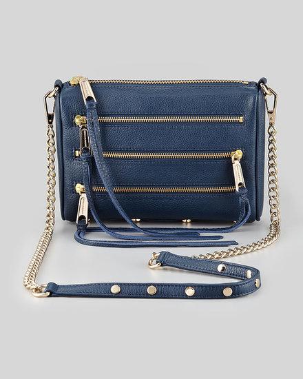 Rebecca Minkoff Mini 5-Zip Crossbody Bag, Midnight