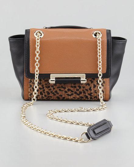 Diane von Furstenberg Leopard-Print Mixed-Media Mini Crossbody Bag