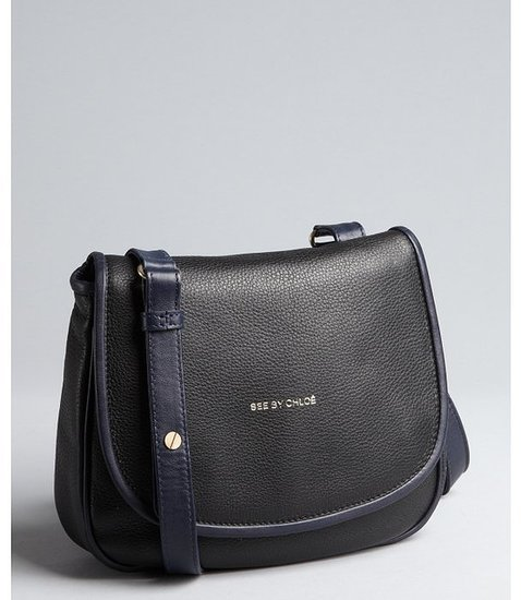 See By Chloe black leather small crossbody bag