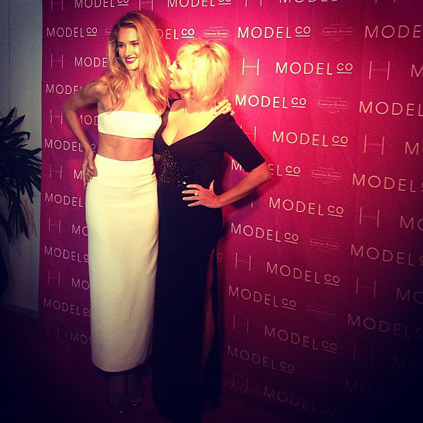 Fact: Rosie Huntington-Whiteley is as stunning in real life as she is in all her mega ad campaigns. . . Plus, she's one of those super nice people who goes out of her way to greet everyone and chat to them. What an over-achiever! She's pictured here with Modelco founder, Shelley Barrett.