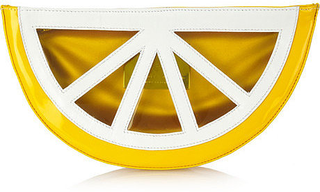 Charlotte Olympia Fruit PVC clutch