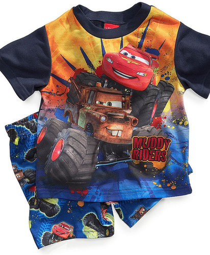 AME Kids Pajamas, Toddler Boys Cars 2-Piece Shirt and PJ Shorts