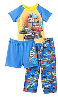 "Cars Boys' 2T-4T Blue 3-pc. ""Rev it Up"" Pajama Set"