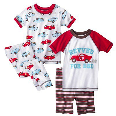 Just One You® by Carters® Infant Toddler Boys' 4-Piece Pajama Set