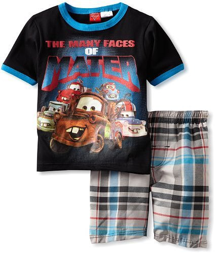 Disney Boys 2-7 Cars 2 Piece Knit and Woven Short Set