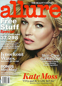 Kate Moss Covers Allure Magazine August 2013