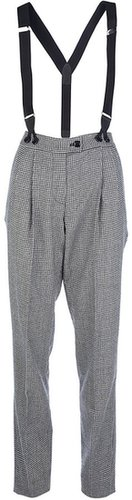 Moschino Cheap & Chic dogtooth trouser and braces