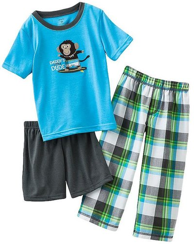Carter's surfing monkey pajama set - baby