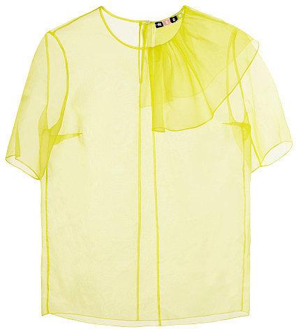 Preorder MSGM Light Organza Ruffle T-Shirt