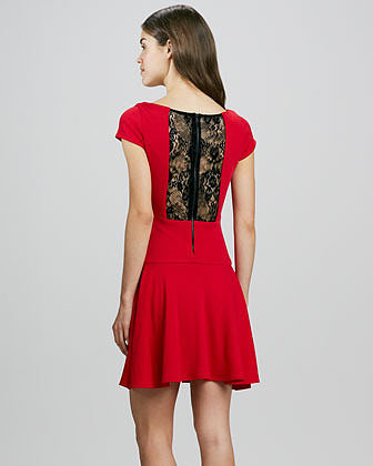 Alice + Olivia Rylie Lace-Back Dress
