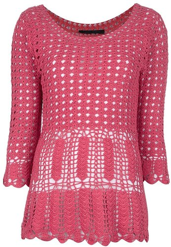 Alberta Ferretti crocheted sweater