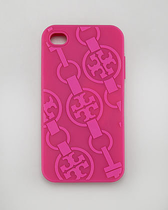 Tory Burch T-Belts Silicone iPhone 4 Case, Royal Fuchsia