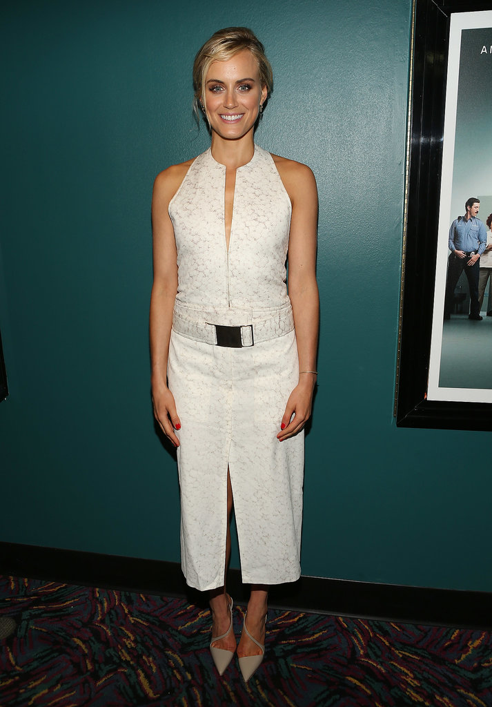 At a screening for Orange Is the New Black, Taylor showed off a modern look from Calvin Klein Collection.