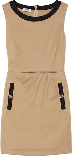 Moschino Cheap and Chic Two-tone cotton-blend dress