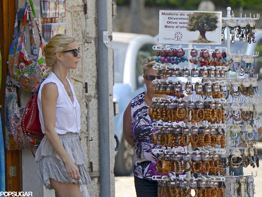 Gwyneth Paltrow did some shopping in Spain.