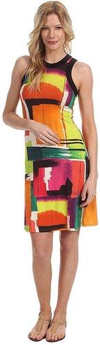 Karen Kane - Modern Art Print Halter Dress (Print) - Apparel
