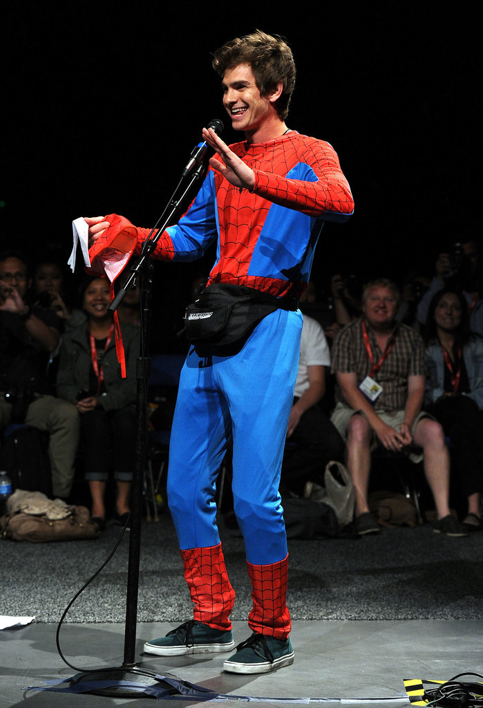 Andrew Garfield was decked out in his finest for The Amazing Spider-Man's panel in 2011.