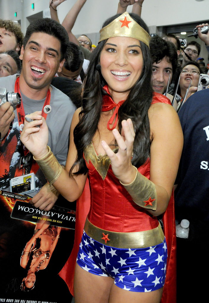 Olivia Munn got into the Comic-Con spirit when she dressed up as Wonder Woman in 2009.