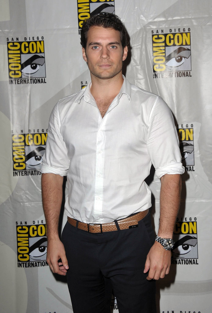 Henry Cavill was on hand to do press for Man of Steel at Comic-Con in 2012.