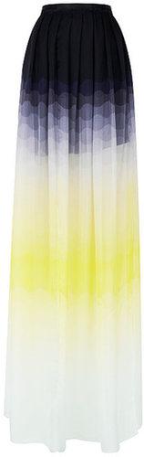 Preorder Jonathan Saunders April Ombre Chiffon Skirt