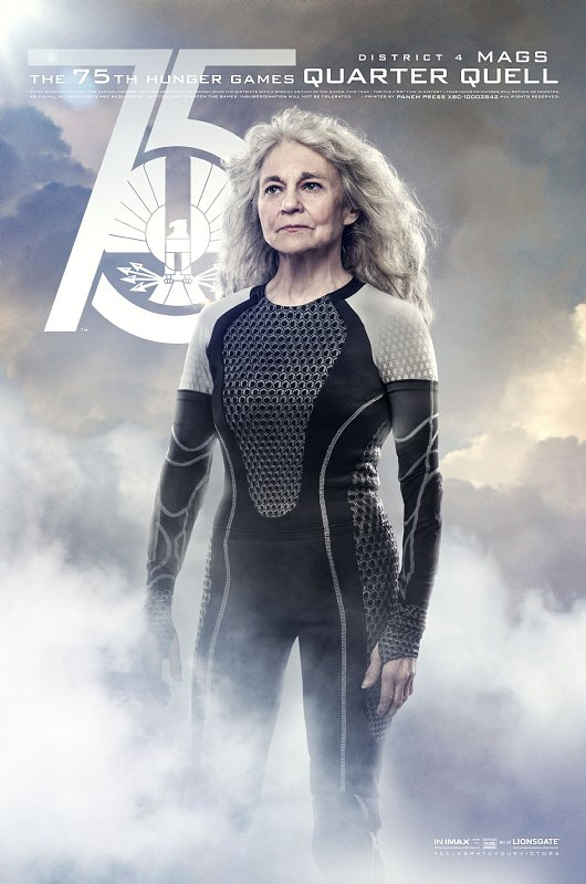 Lynn Cohen is Mags, an older victor.