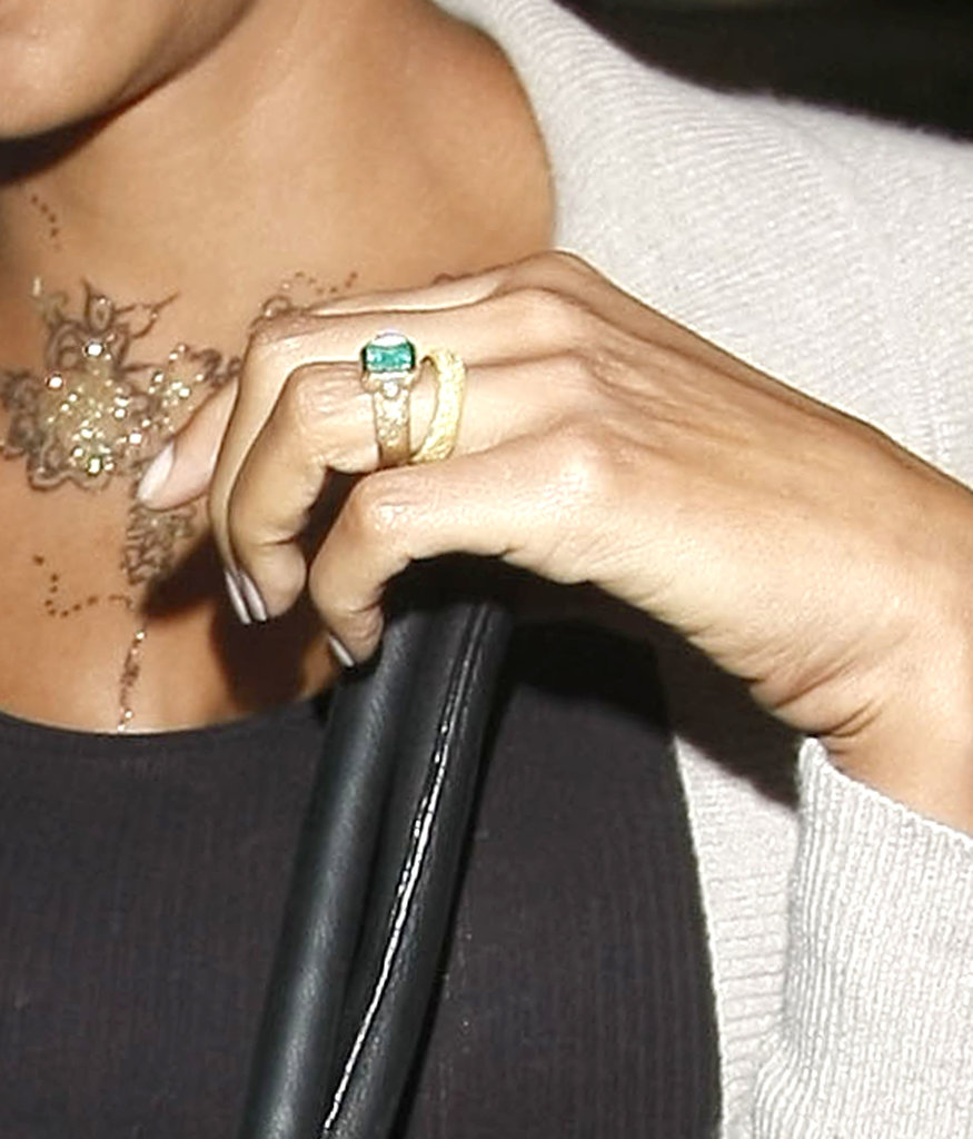 Halle and Olivier Return to LA Following Their Wedding — See Her New Ring!