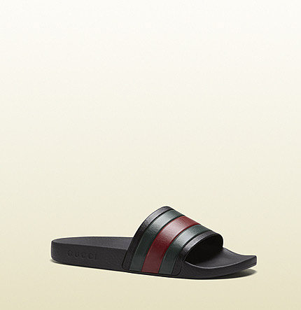 Black Rubber Slide Sandal