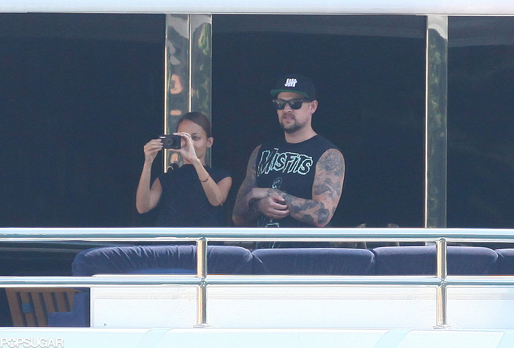 Nicole Richie and Joel Madden took in the view from their yacht in Portofino.