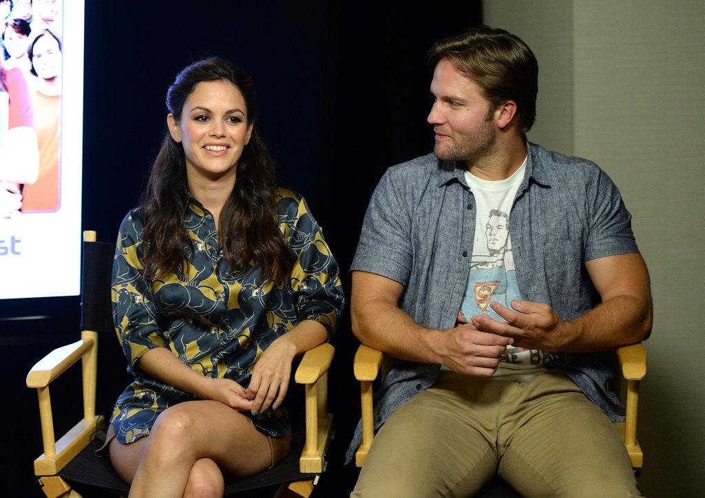 Scott Porter and Rachel Bilson posed together on Thursday.